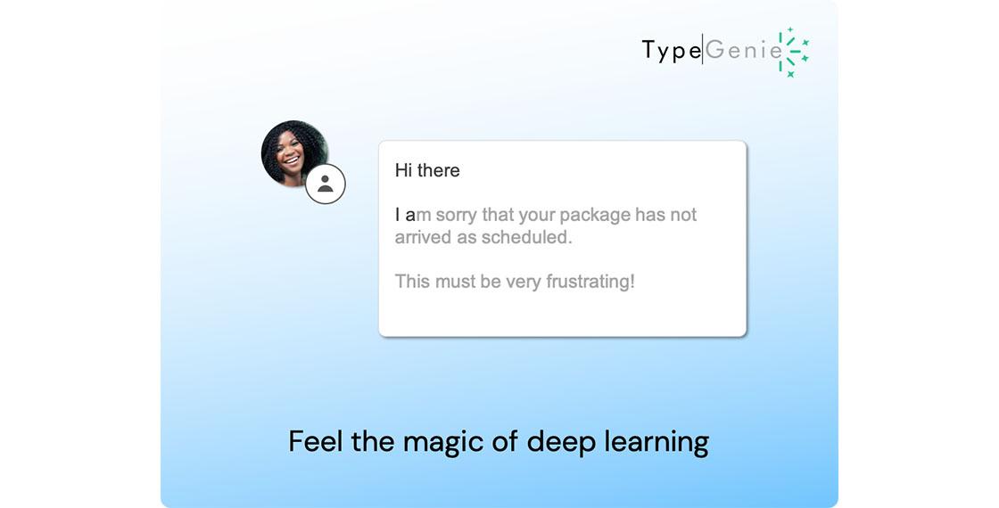 screenshot of type genie platform