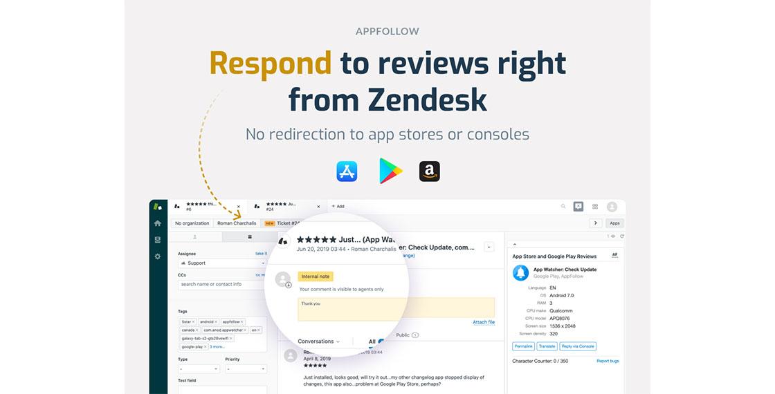 Screenshot of App Reviews App for Zendesk