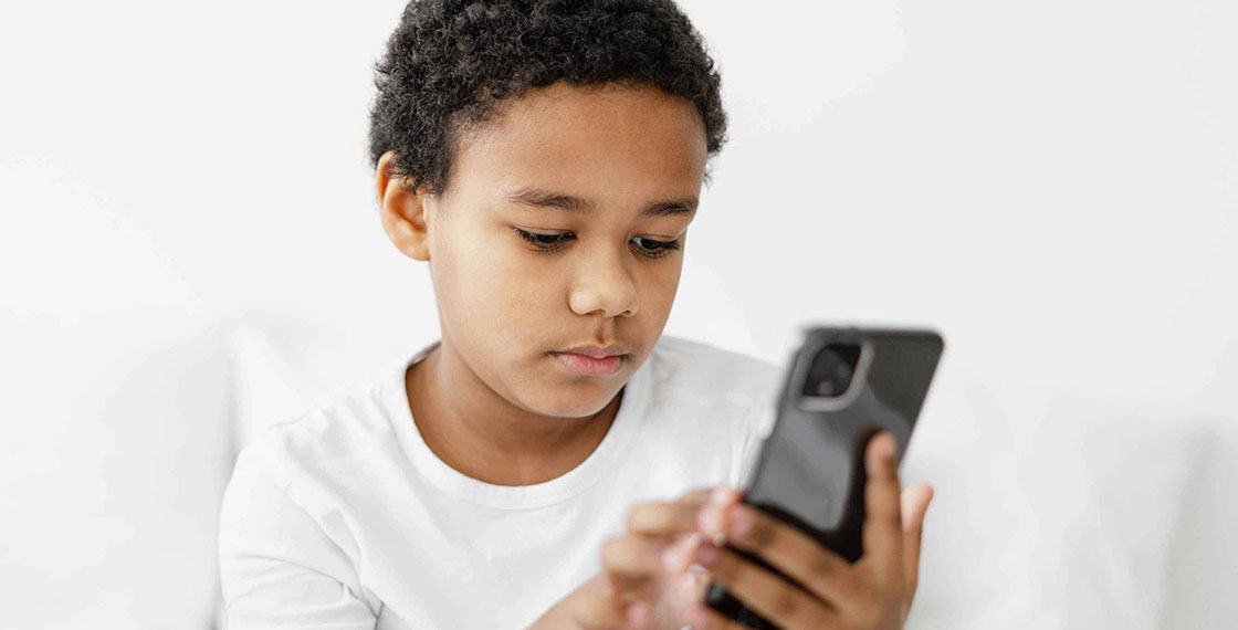 Boy with a phone