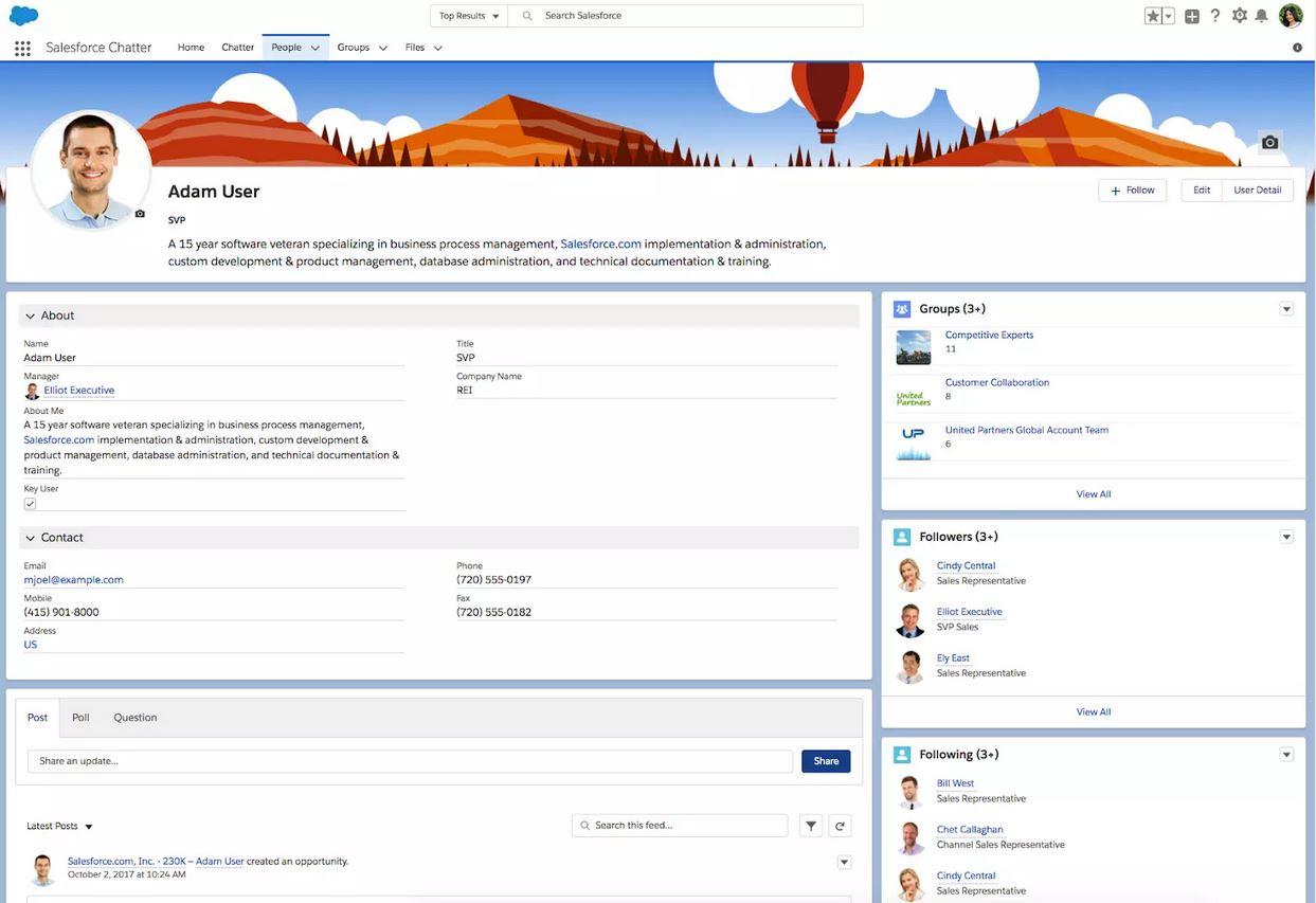 Chatter le Slack de Salesforce