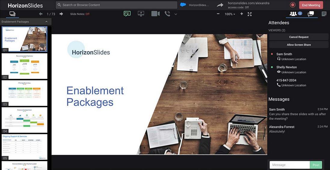 Clearslide documents screenshot