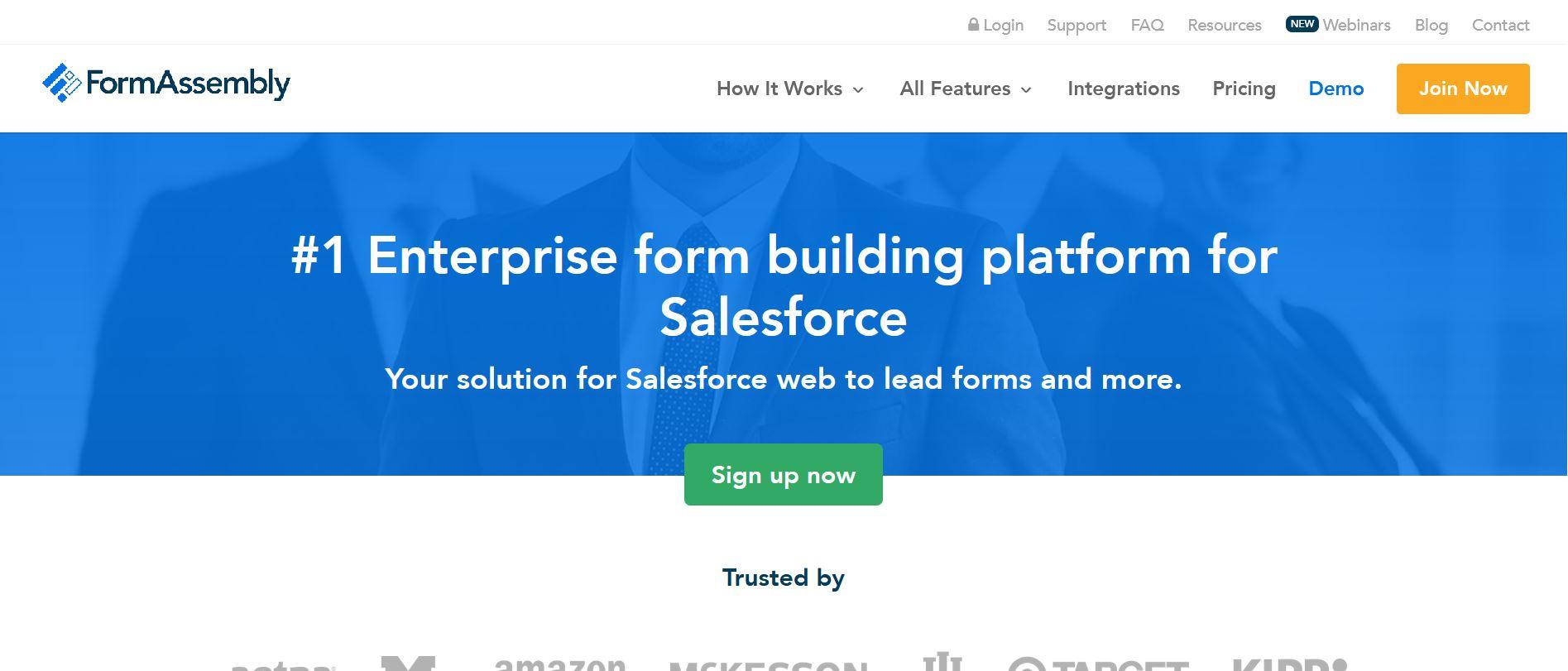 FormAssembly integration Salesforce
