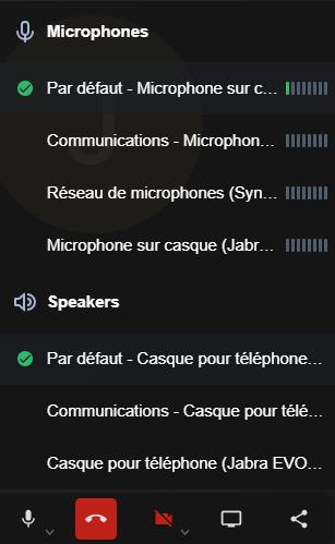 Interfaz de la parte de la configuración de los micrófonos